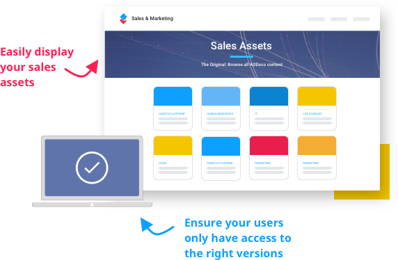 easily display your sales assets illustration